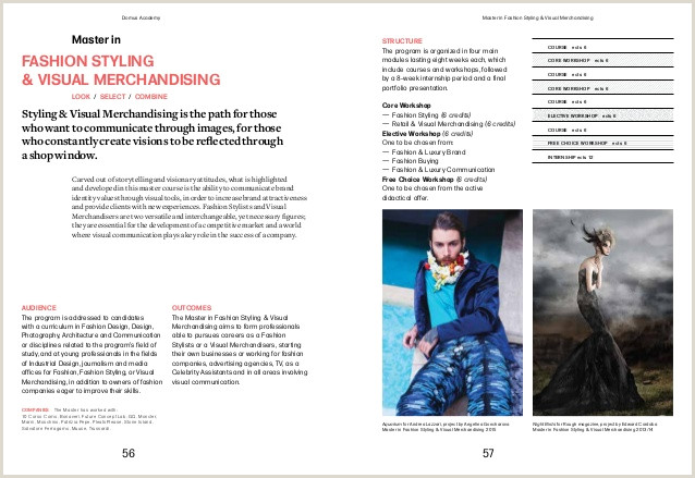 Fashion Stylist Cover Letter Domus Academy Brochure