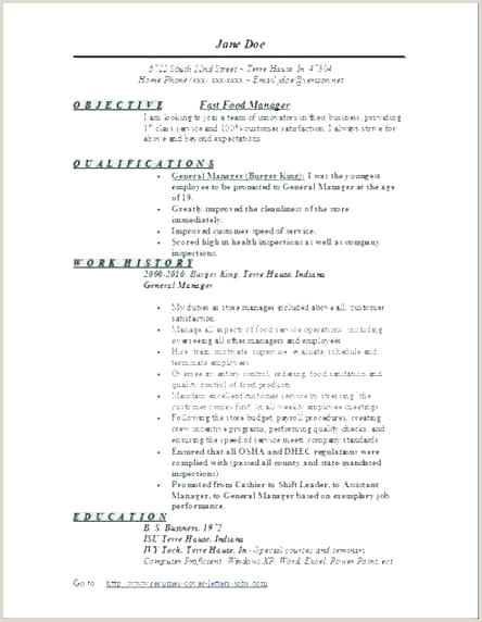 food industry resume examples – penza poisk