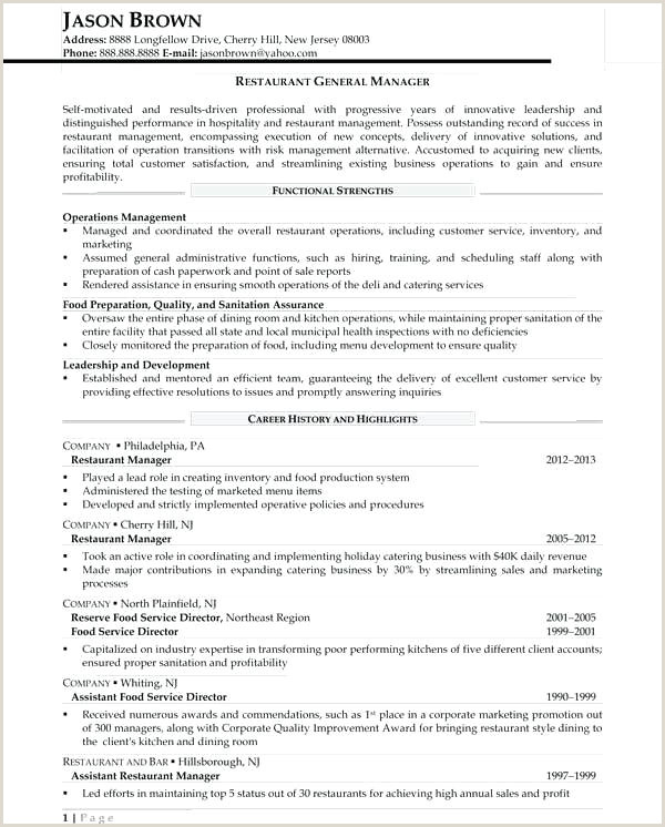 food and beverage resume sample – growthnotes