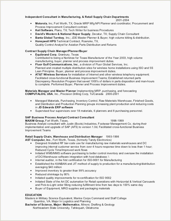 Operation Manager Resume Template New Resume for Operations