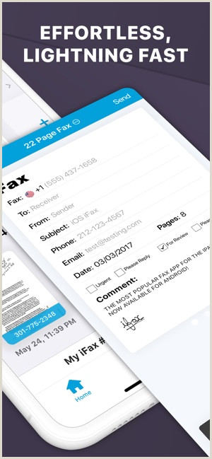 Fax Cover Sheet Apple ifax Fax App Fax From iPhone On the App Store