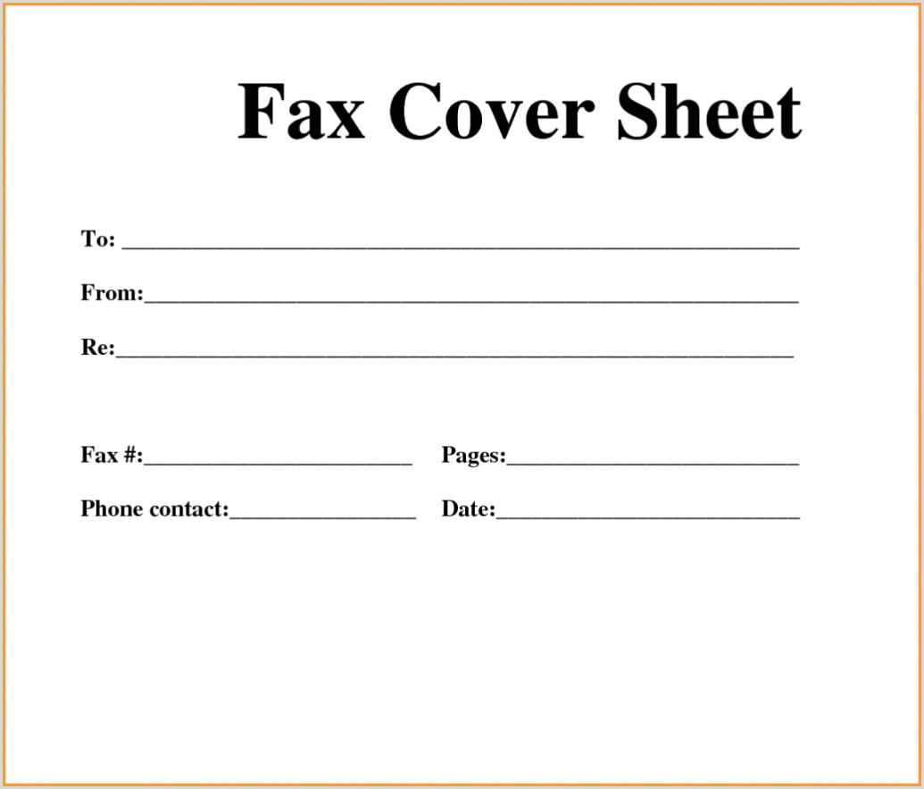 Free Printable Fax Cover Sheets Blank Pdf line Sheet