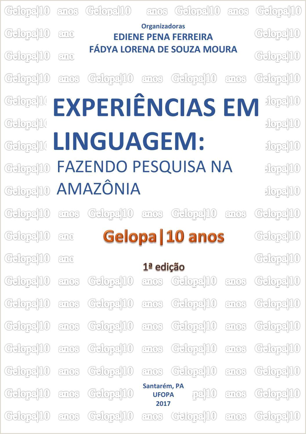 Experiªncias em linguagem fazendo pesquisa na Amaz´nia by