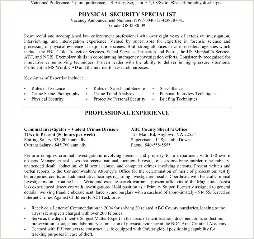 Fbi Resume Example Federal Resume Template – Poporon