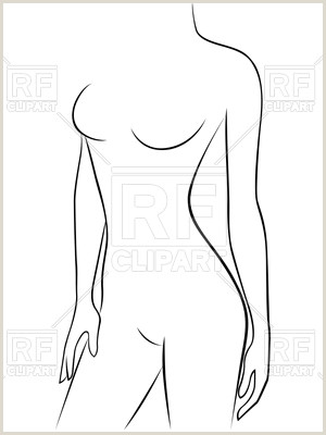 Attractive young graceful female body outline Stock Vector Image