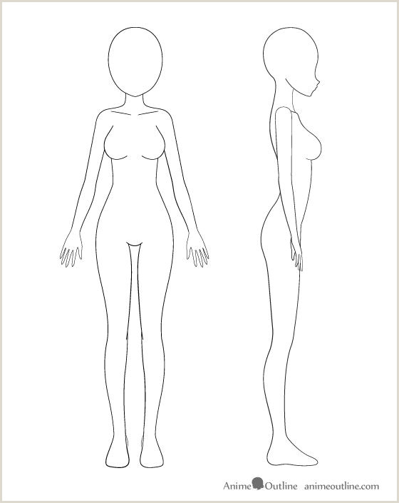 Female Body Outline Template Pin On Drawing Skill Set