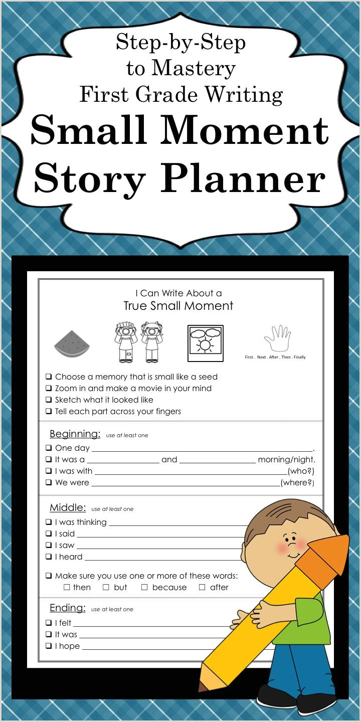 Narrative Writing Small Moment Template with Sentence
