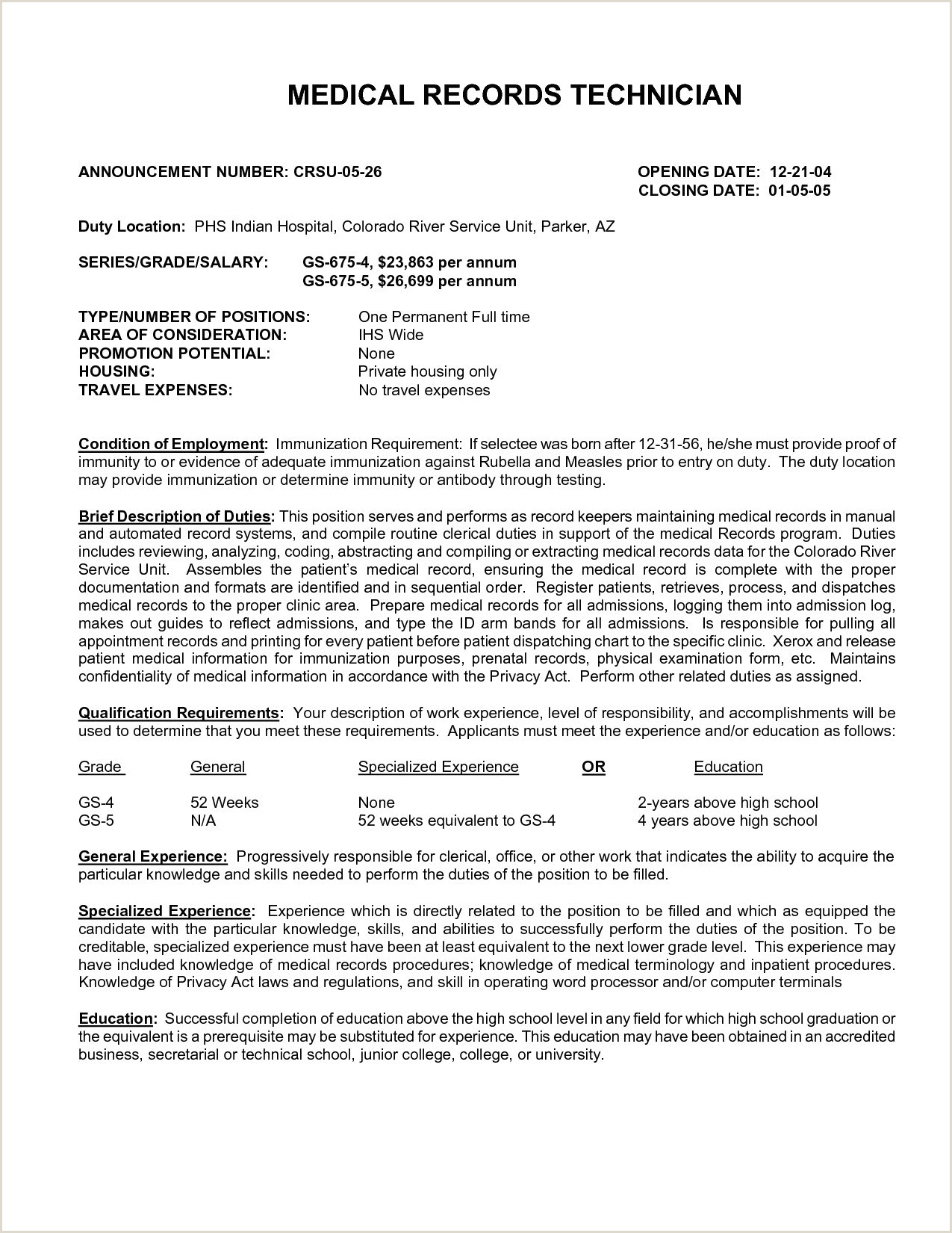 Medical Records Clerk Resume Templates Job Sample Template