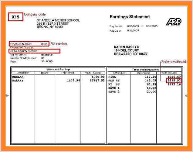 Fillable Adp Pay Stub Free Online Paystub 5