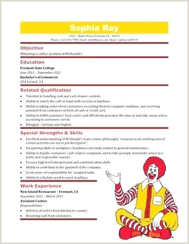 42 Unique Collection Sample Resume Restaurant Crew