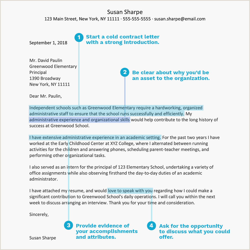 Film Production Cover Letter Cold Contact Cover Letter Examples and Tips