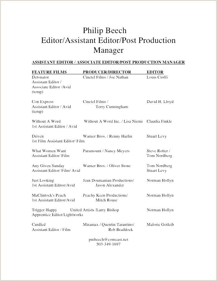Filmmaker Resume Template Film Resume Template