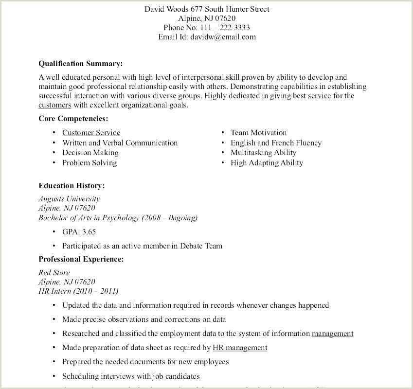 college internship resume template