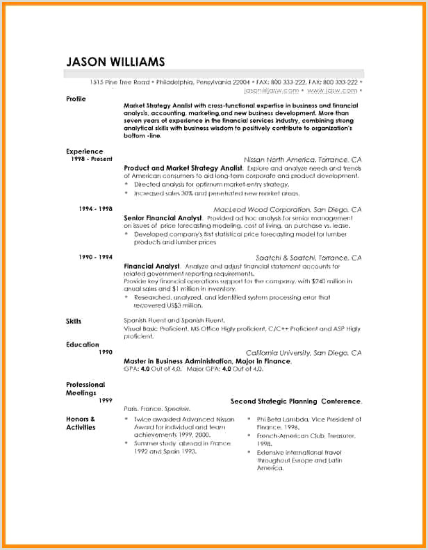 Cv Gratuit mercial Collections De Business Resume