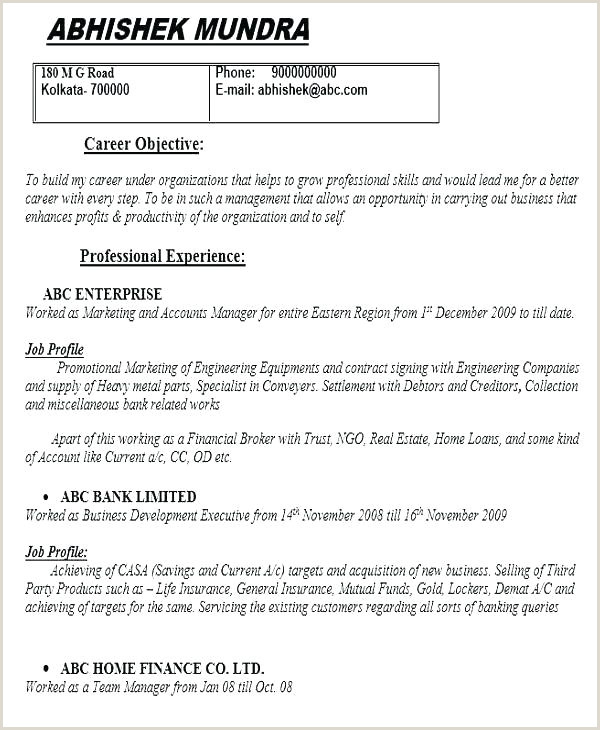 Hr Resumes Free Best Resume Templates Biography Template
