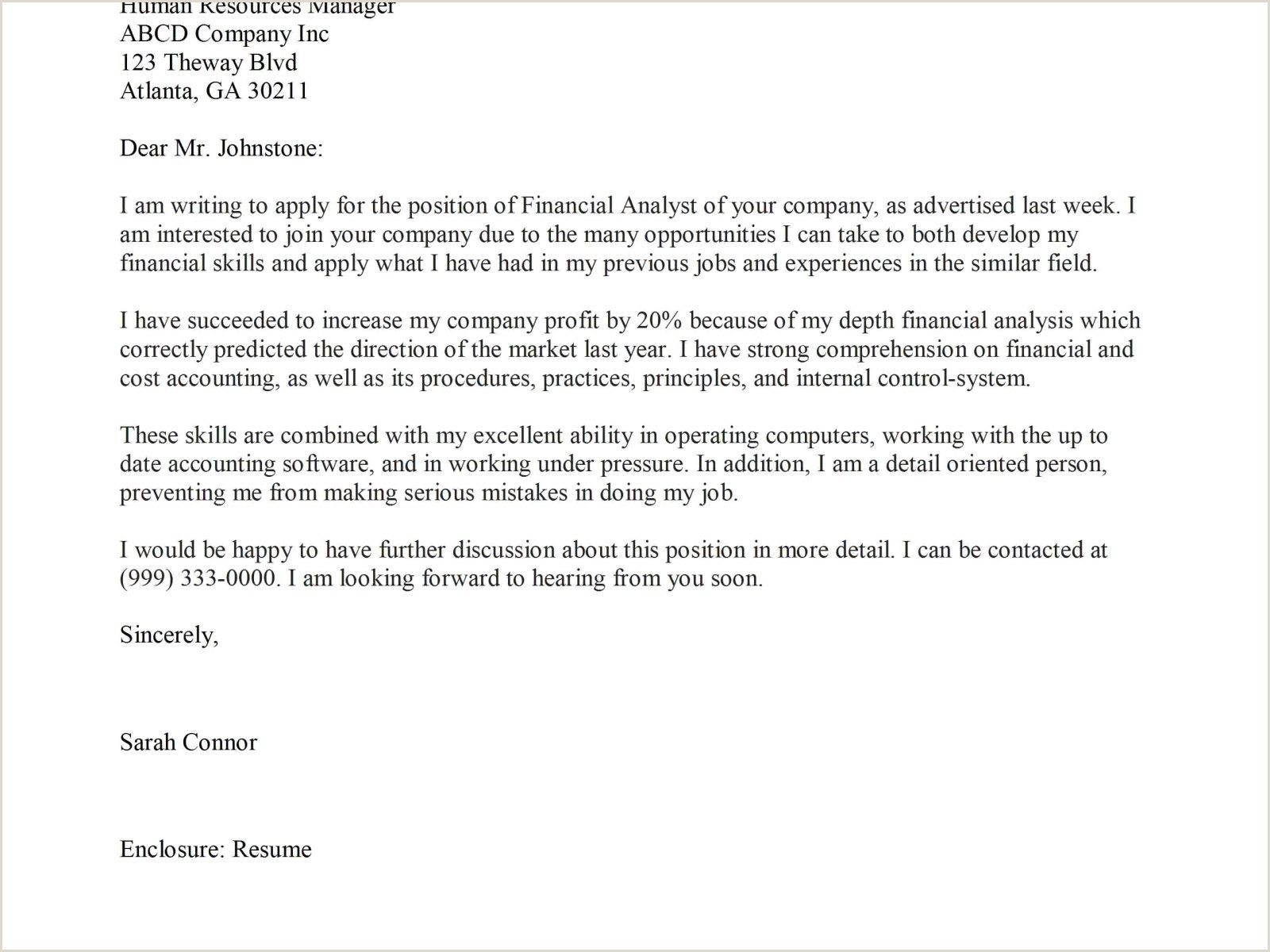 10 Cover Letter For Business Analyst