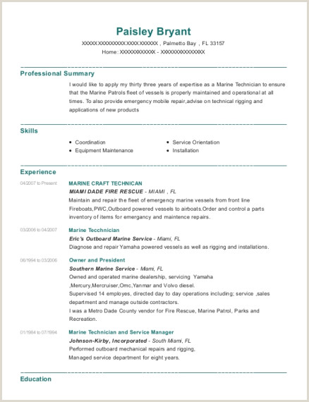 Fire Chief Resume Examples Best Marine Resumes