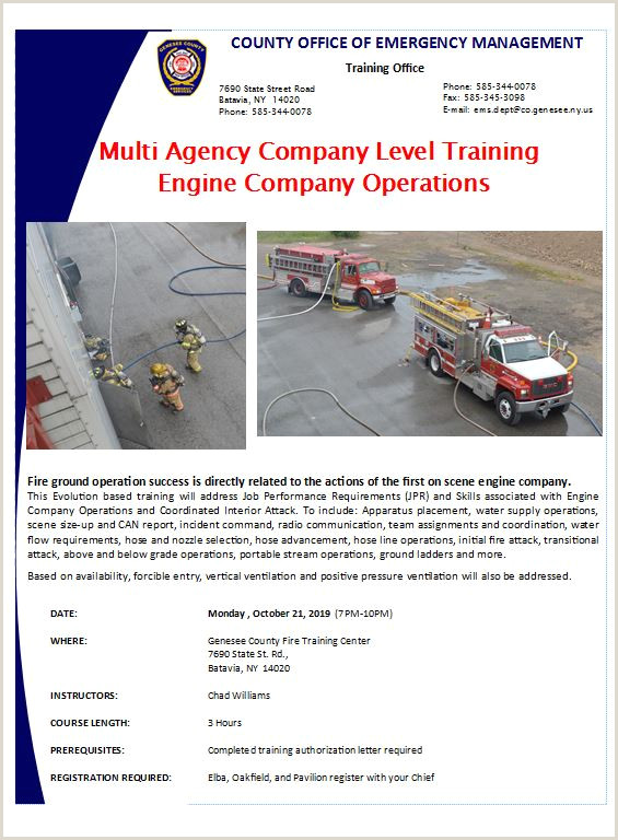 Fire Instructor Evaluation form Wel E to County Of Genesee