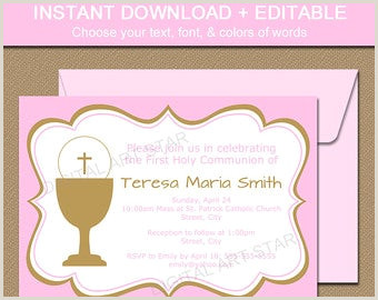 First Holy munion Invitation Template Download First