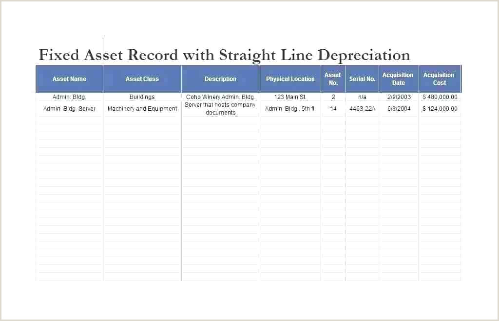 Fixed asset Roll forward Excel Template Fixed asset Template