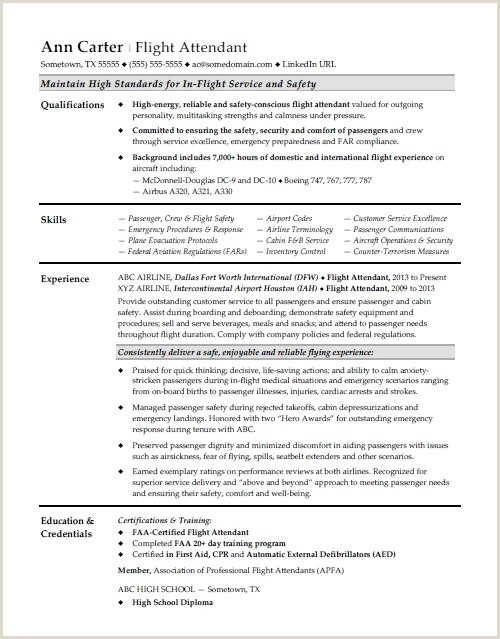 Flight attendant Job Description Resume New Flight attendant