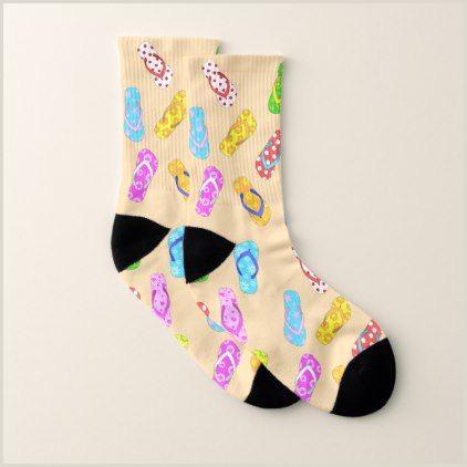 Flip Flops Template Flip Flop Pattern socks Zazzle