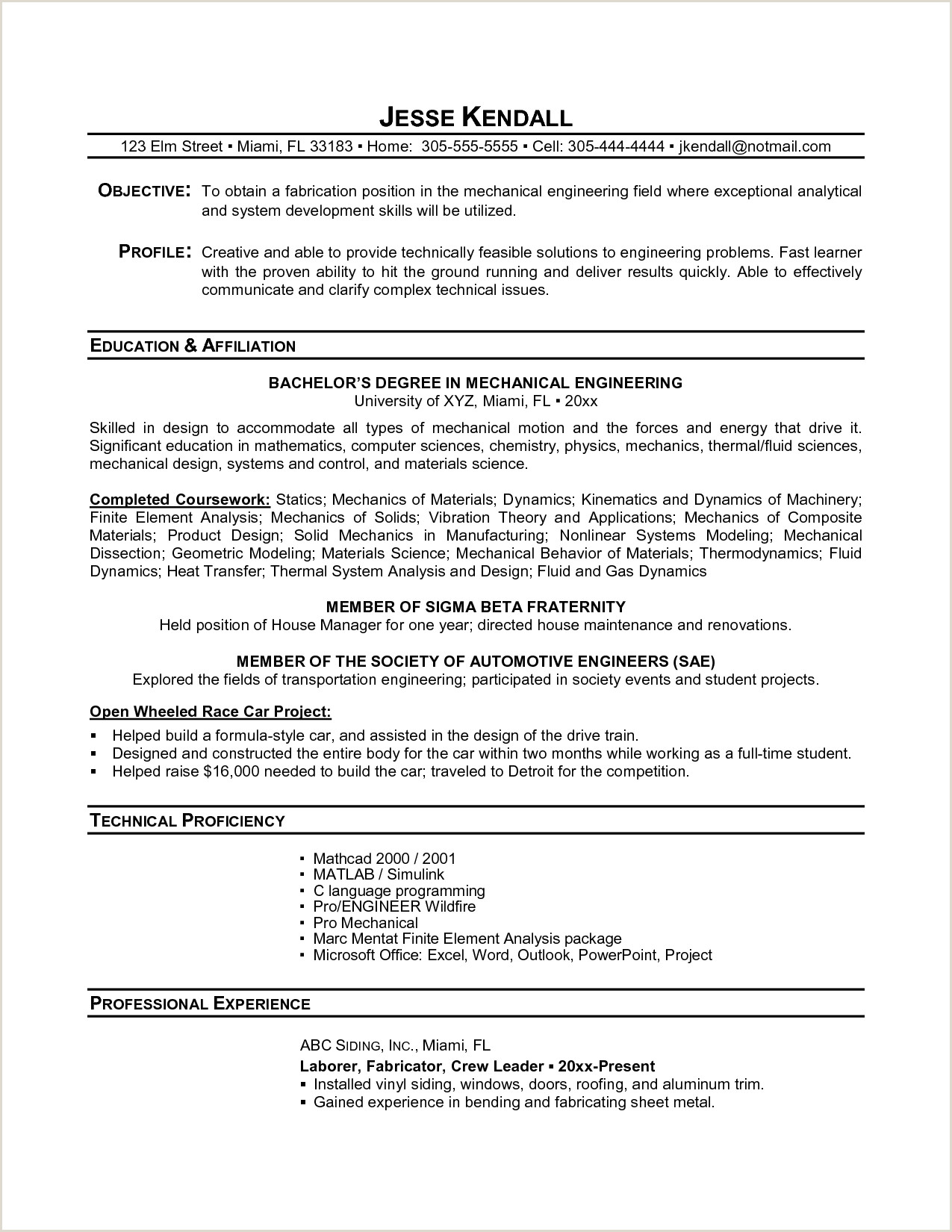 Florida Will Template Resume Examples Student Examples Collge High School Resume