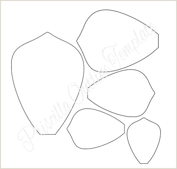 Flower Petal Template attach D 1 3d Paper Rose Template Specialization C In
