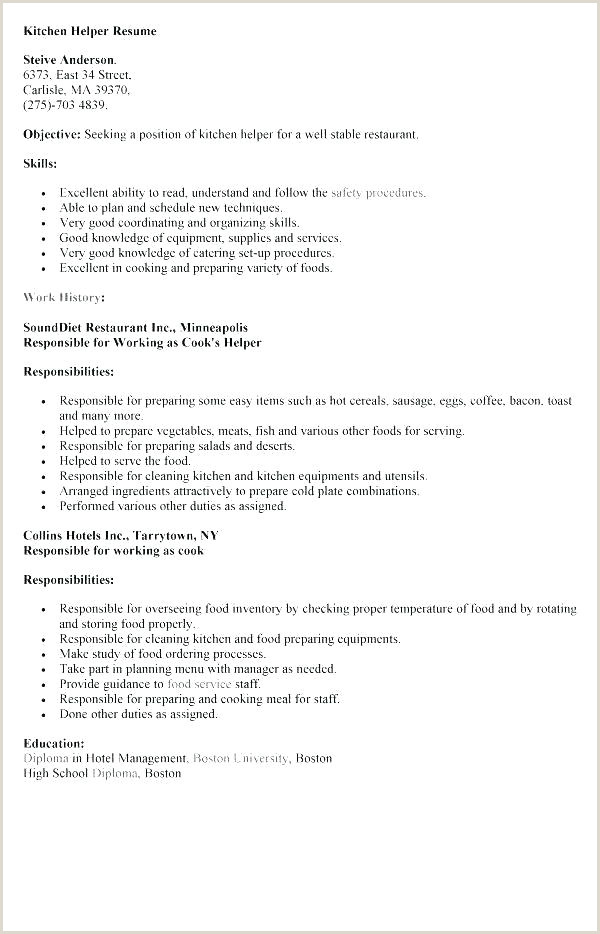 kitchen resume samples – tfeifo