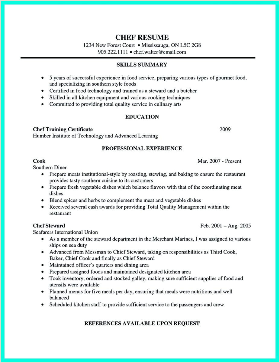 chef assistant resume and sous chef resume cover letter