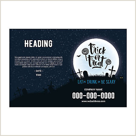 Plastic Sign Template Halloween Moon Horizontal Item