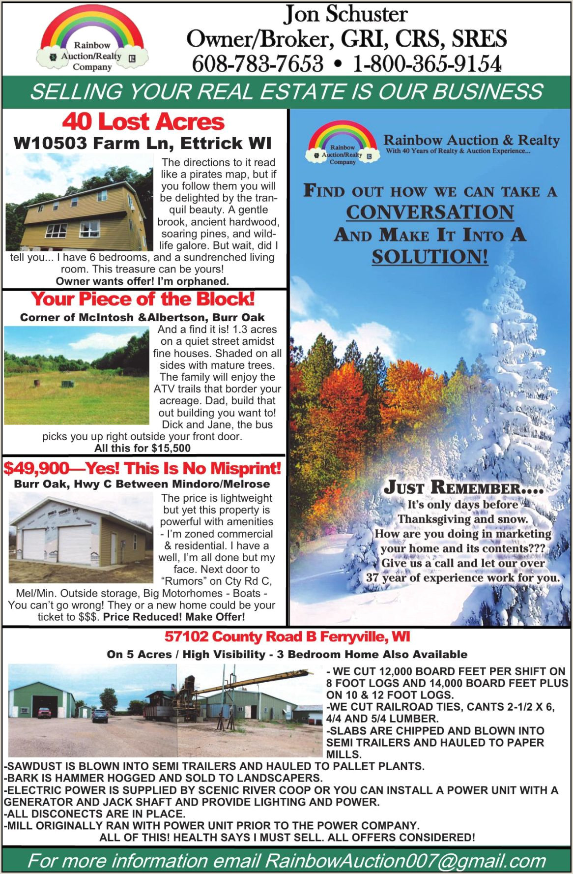 RAINBOW AUCTION SERVICE Ad from 2019 09 29