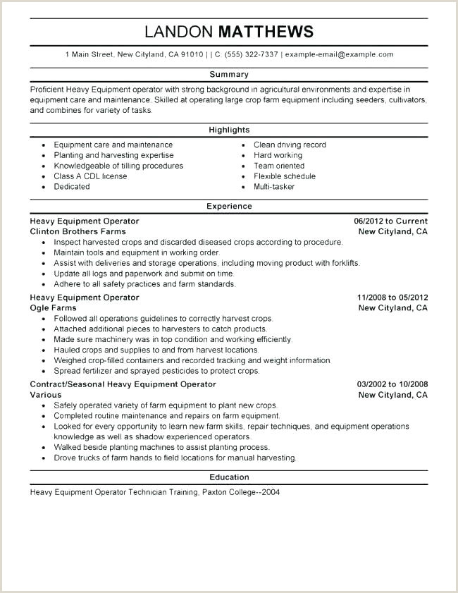 Good Process Operator Resume Examples For Forklift Resume
