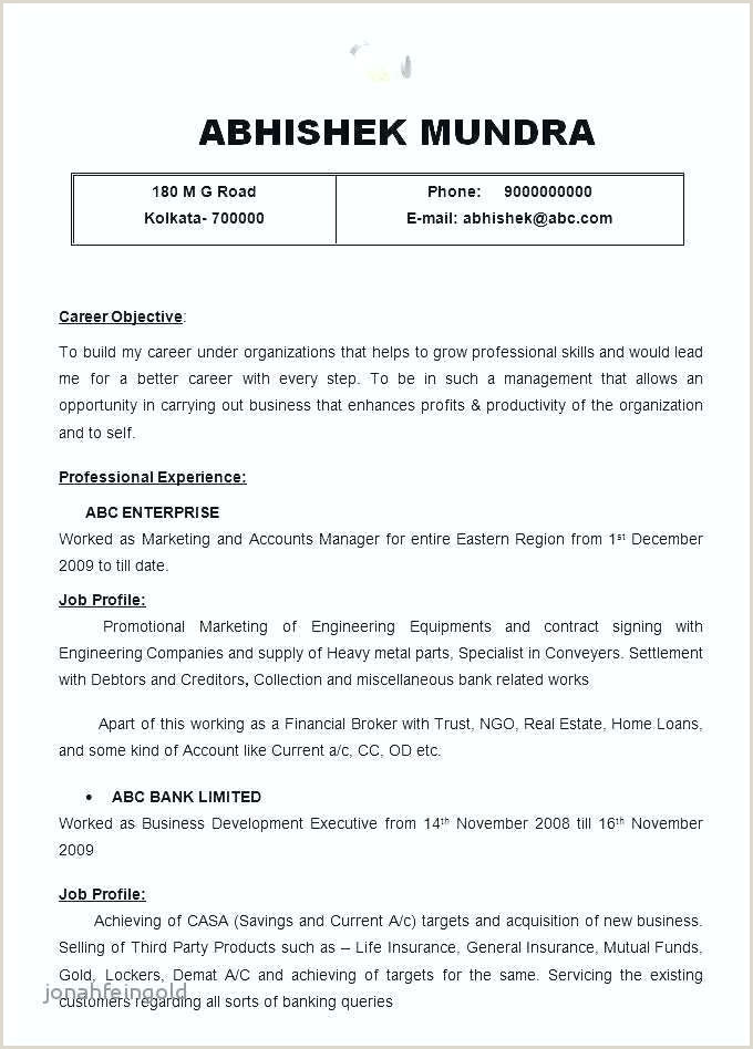 Format Of Cv for Job Application Pdf Resume Sample for Job Application – Englishor