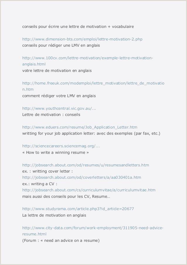 Format Of Cv for Job Pdf Lettre De Motivation Pour Un Emploi Pdf Exemple Lettre