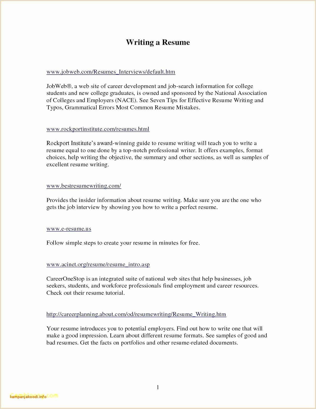 Sample Resume Letters Free English Cv Example Resume