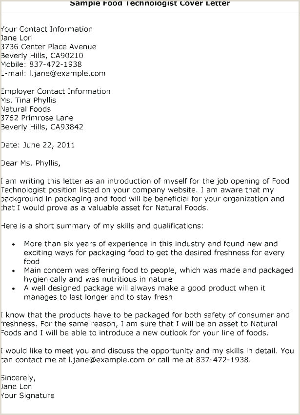 Format Of Standard Cv for A Food Technologist First Paragraph Of A Cover Letter – Growthnotes