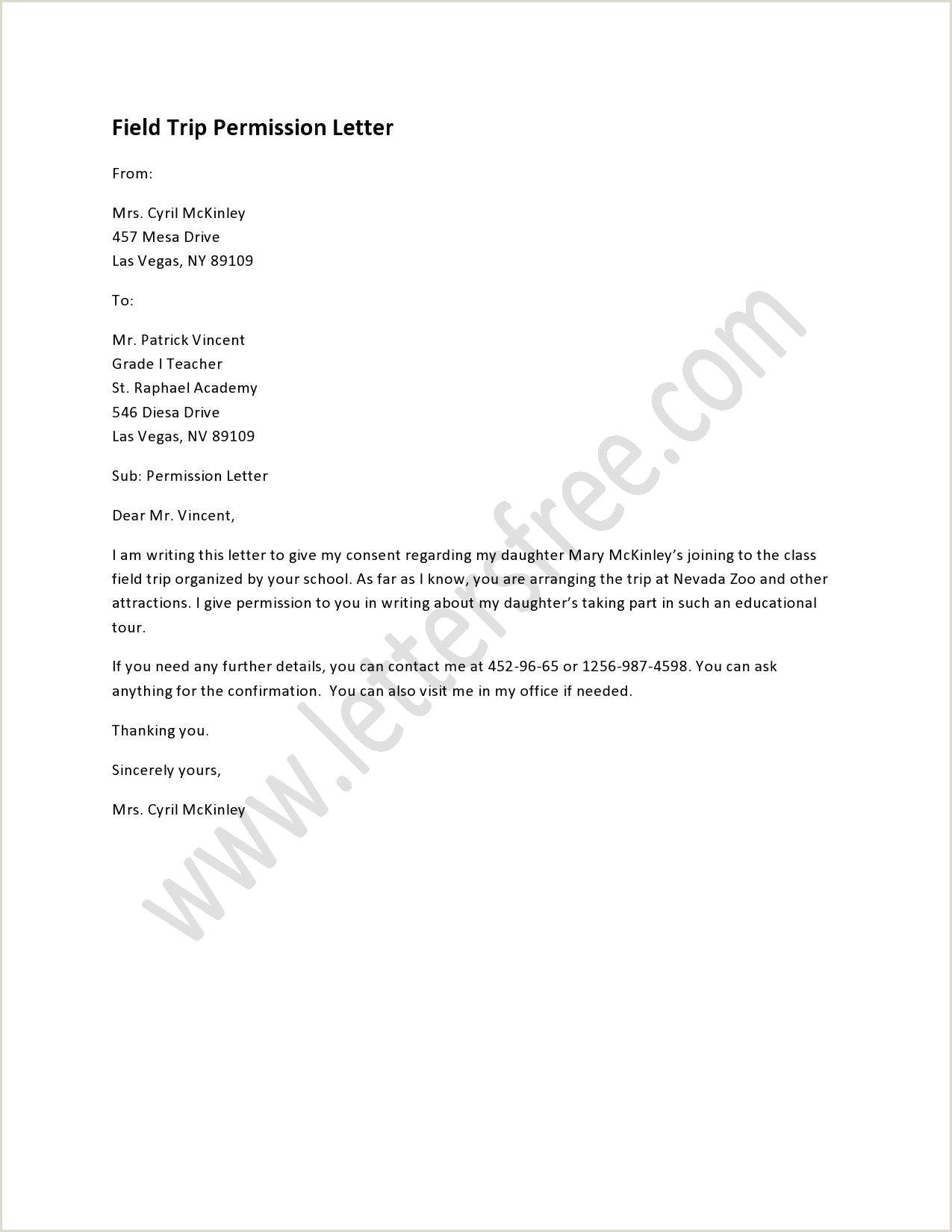 Formative Essay Example Field Trip Permission Letter