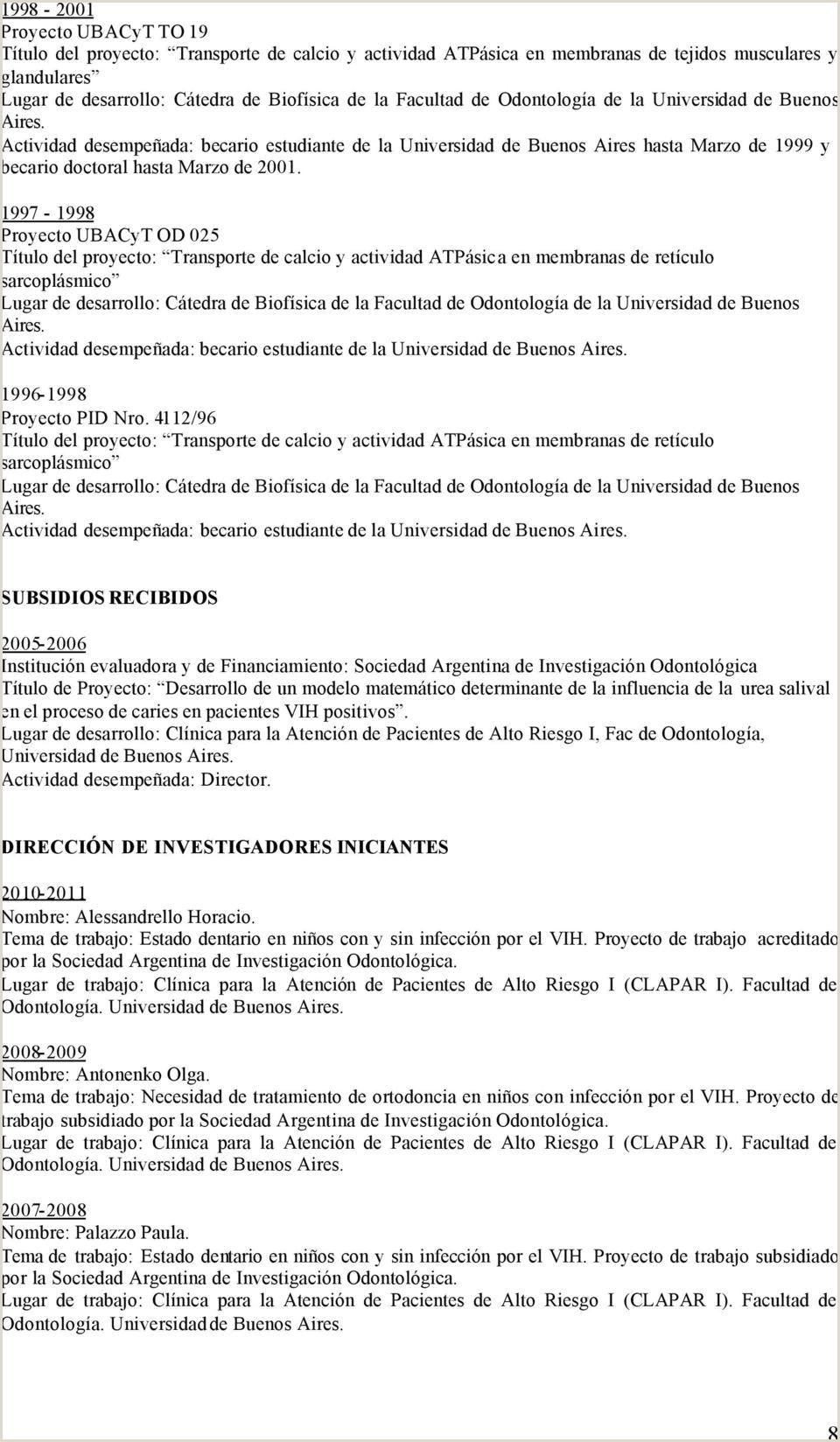 Curriculum Vitae Formato Word Para Llenar Proyectos Que