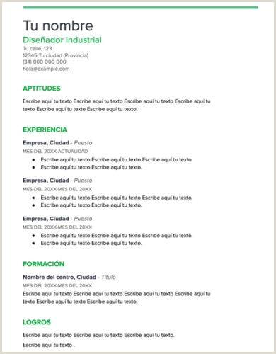 Formato De Curriculum Vitae Creativo Para Rellenar ▷ Curriculum Vitae Plantilla Word
