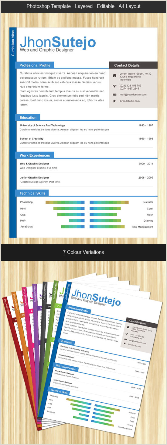 Formato De Curriculum Vitae Creativo Para Rellenar Las 10 Mejores Plantillas Gratis Para Curriculums Creativos
