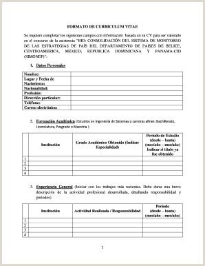 Formato De Curriculum Vitae Para Rellenar Con Foto Curriculum Vitae formato Word Edit Line Fill Out
