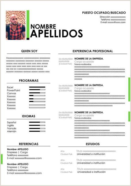 Formato De Curriculum Vitae Para Rellenar Pdf Ejemplos De Hoja De Vida Modernos En Word Para Descargar