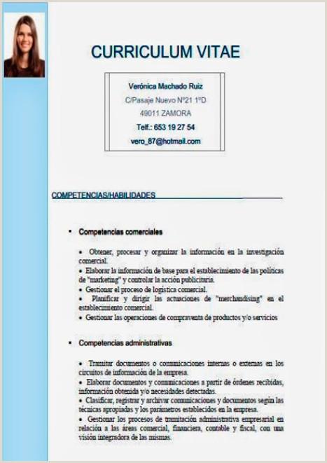Formato De Curriculum Vitae Para Rellenar Simple Gua】¿c³mo Hacer Un Curriculum Vitae ➤ Plantillas Para Cv