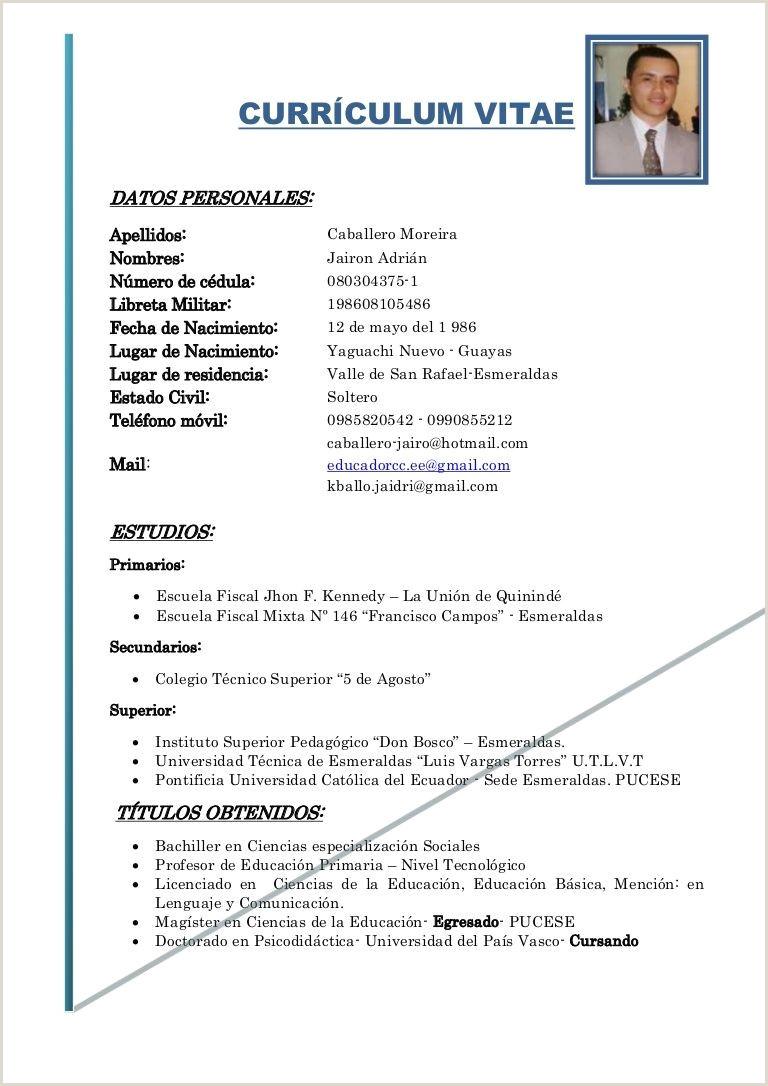 Formato De Curriculum Vitae Para Rellenar Sin Experiencia Curriculum Vitae Plantilla Word Sin Experiencia