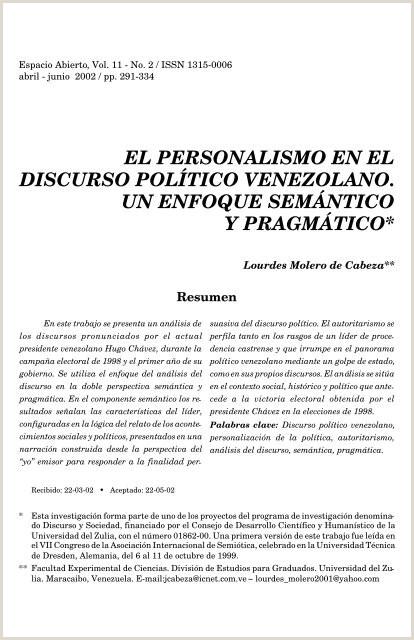 el personalismo en el discurso polƒtico venezolano