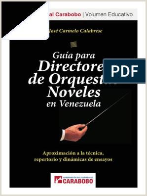 Gua para Directores de orquestas noveles en Venezuela José