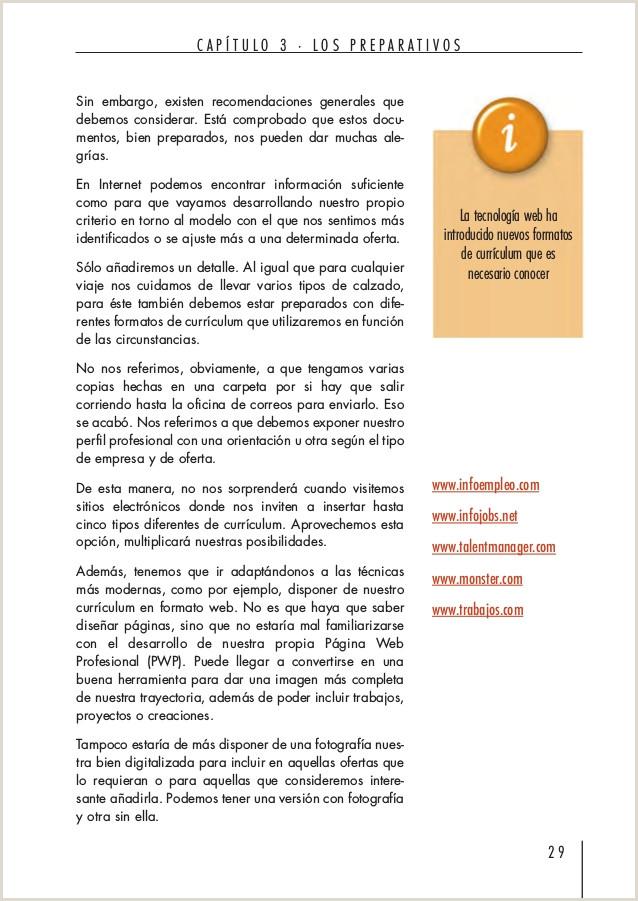 Formato De Curriculum Vitae Para Rellenar Venezuela La Red Del Empleo En Espa±a