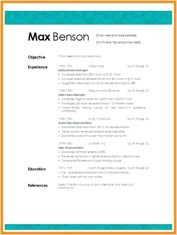 Formato De Curriculum Vitae Para Rellenar Word Curriculum Vitae format In Word Resume Template Plete
