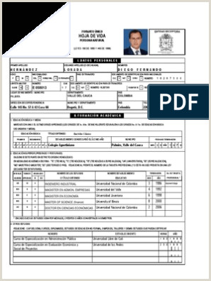 Formato De Hoja De Vida 2018 Colombia Hoja Vida Diegohernandez 2008 1